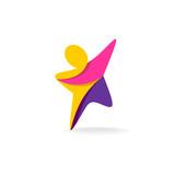 Fototapety Man reach logo