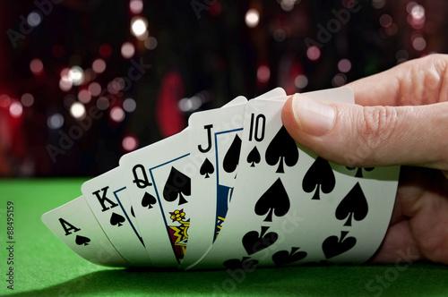 Poster Royal flush poker