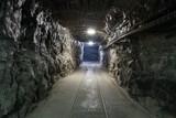 Fototapeta Kamienie - Underground mine tunnel © malajscy