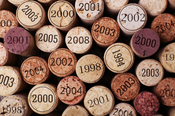 Wine corks close up