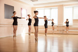 Fototapety Young dancers in ballet class
