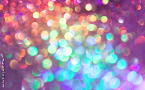 bokeh lights background with multi colors with motion blur.