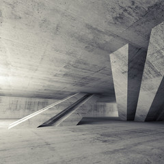 Abstract empty concrete room, 3d interior © eugenesergeev