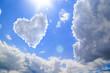 Quadro Heart shape of clouds