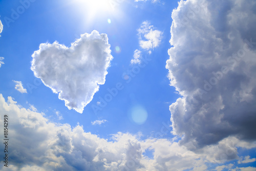 Heart shape of clouds