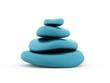 Blue pebbles rendered