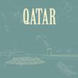 Постер, плакат: Qatar Retro styled image Fort Umm Salal Mohammed