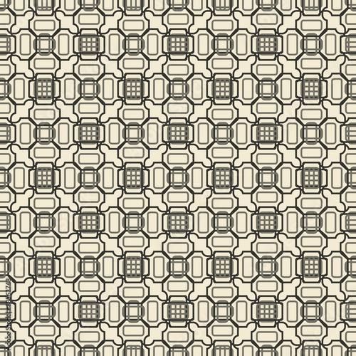 Staande foto Kunstmatig Geometric ornament seamless pattern. Textile design template seamless background.