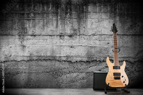 Poster Modern electric guitar