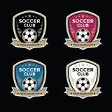 Fototapety Set of soccer football crests and logo emblem designs