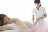 Esthetician that the massage of legs poster