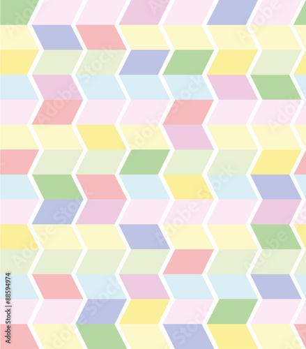 Fototapeta vector seamless geometrical pattern in pastel colors