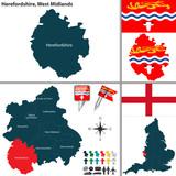 Herefordshire, West Midlands, UK poster