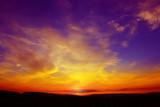 Fototapety Tramonto rosso, giallo, viola