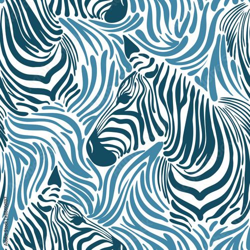 Cotton fabric Print zebra