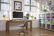 Schreibtisch im Home Office - Arbeitszimmer