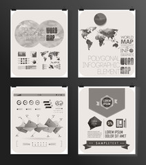 Modern infographic poster. Background