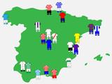 Spanish League Clubs Map 2013-14 La Liga
