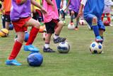 サッカー教室、実習中