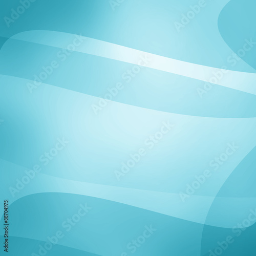 abstract lines and waves background design, white and sky blue layers with graceful white curving lines pattern