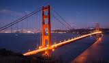 Golden Gate Bridge and San Francisco Skyline. Battery Spencer, Sausalito, California, USA. - Fine Art prints