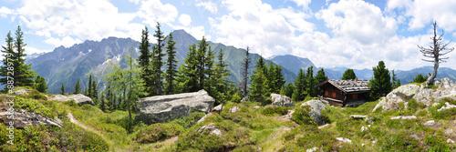 Plagát, Obraz Panoramafoto Zillertaler Alpen / Österreich