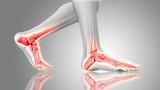 3D render of feet close up
