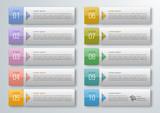 Fototapety Infographics Web Banner & Label Design