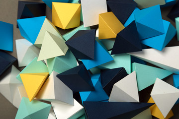 Geometric origami background © elettaria