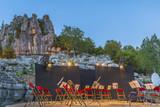scène de concert de musique classique en plein air