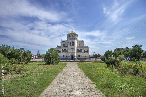 Tuinposter Cathedral Cove Владимирский собор в Херсонесе Таврическом, Севастополь, Крым