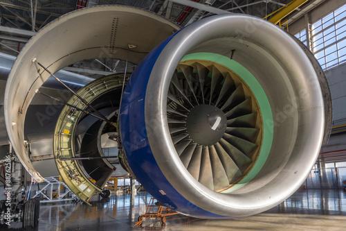 Аircraft engine maintenance Poster