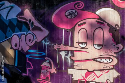 Graffiti: Boy fraîche Poster