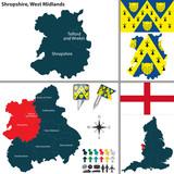 Shropshire, West Midlands, UK poster