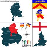 Staffordshire, West Midlands, UK poster