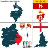 Warwickshire, West Midlands, UK poster