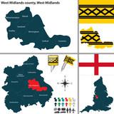 West Midlands county, West Midlands, UK poster