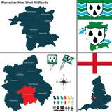 Worcestershire, West Midlands, UK poster