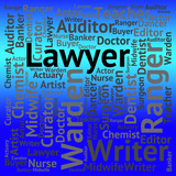 Lawyer Job Shows Legal Practitioner And Advocate poster