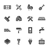 Fototapety Construction Icons