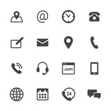 Fototapety Contact Icons