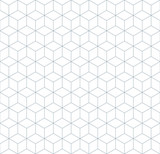 Vector seamless soft white geometric cube tracery pattern