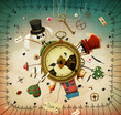Obrazy na płótnie, fototapety, zdjęcia, fotoobrazy drukowane : Fantasy illustration of fairy tale Alice in Wonderland