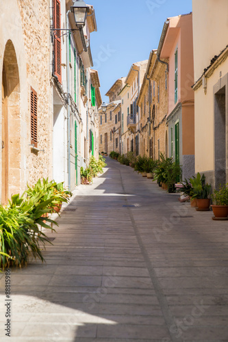 Narrow uphill street
