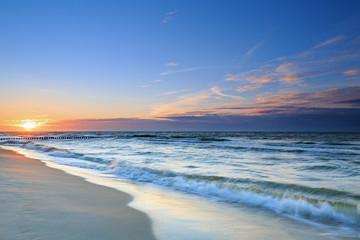 Fototapeta piękny zachód nad Bałtykiem