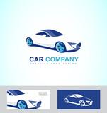 Sports fast race car logo