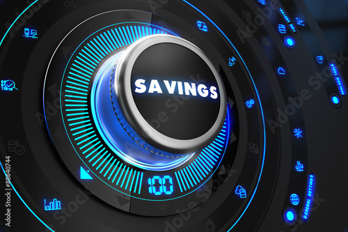 Savings Controller on Black Control Console.