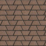 Brown Paving Slabs in the Form Trapezoids. poster