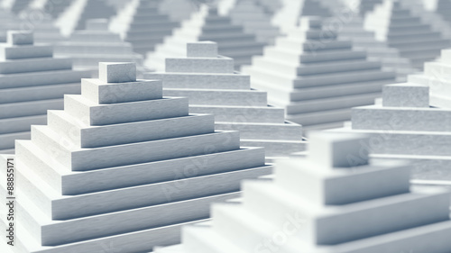 Abstract 3D pyramids background design
