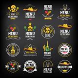Fototapety Menu mexican logo and badge design.